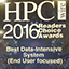 Portion of HPCwire award plaque
