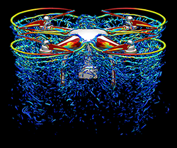 Visualization of Phantom 3 quadcopter